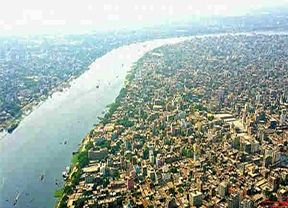 Old Dhaka of Bangladesh. Flowing water through to the Buriganga river.