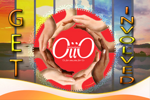 Here is showing few people make a circle by their hands to give support to OiiO Unite.